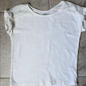 EUC Crazy 8 Lace Shoulder T Shirt
